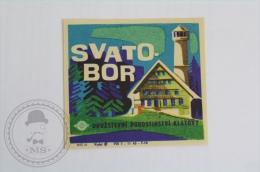 Hotel Svatobor , Czech Republic - Original Hotel Luggage Label - Sticker