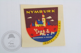 Hotel Zalozna Nymburk - Czech Republic - Original Hotel Luggage Label - Sticker