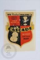 Hotel Central Praha Rybna, Cascade - Czech Republic - Original Hotel Luggage Label - Sticker