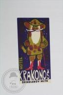 Hotel Krakonos Spindleruv Mlyn - Czech Republic - Original Hotel Luggage Label - Sticker