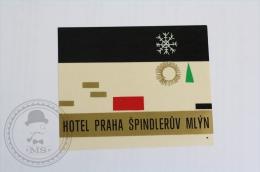 Hotel Praha Spindleruv Mlyn - Czech Republic - Original Hotel Luggage Label - Sticker