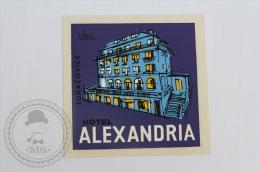 Hotel Alexandria, Luhacovice - Czech Republic - Original Hotel Luggage Label - Sticker