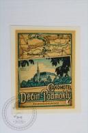 Grand Hotel Decin - Podmokly - Czech Republic - Original Hotel Luggage Label - Sticker