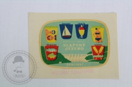 Hotel Slapske Jezero, Povltavi - Czech Republic - Original Hotel Luggage Label - Sticker