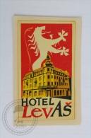 Hotel Levas - Croatia - Original Hotel Luggage Label - Sticker