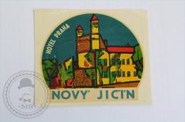 Hotel Praha Novy Jicin - Czech Republic - Original Hotel Luggage Label - Sticker