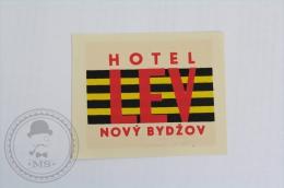 Hotel LEV Novy Bydzov - Czech Republic - Original Hotel Luggage Label - Sticker