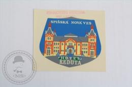 Hotel  Reduta, Spisska Nova Ves - Slovakia - Original Hotel Luggage Label - Sticker