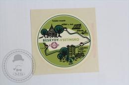 Hotel Beskydy Vsetinsko, Czech Republic - Original Hotel Luggage Label - Sticker