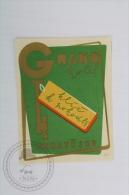 Grand Hotel Prostejov, Czech Republic - Original Hotel Luggage Label - Sticker