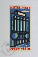 Hotel Piast Cesky Tesin, Czech Republic - Original Hotel Luggage Label - Sticker