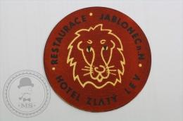 Hotel Zlaty Lev, Jablonec, Czech Republic - Original Hotel Luggage Label - Sticker
