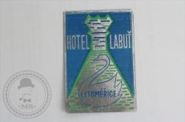 Hotel Labut, Litomerice, Czech Republic - Original Hotel Luggage Label - Sticker