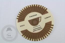 Hotel Grill Vinarna Tisnov, Czech Republic - Original Hotel Luggage Label - Sticker