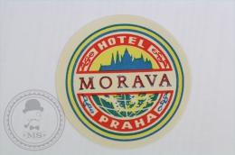 Hotel Morava Praha, Czech Republic - Original Hotel Luggage Label - Sticker