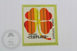Hotel Cieplice, Czech Republic - Original Hotel Luggage Label - Sticker