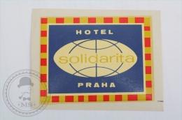 Hotel Solidarita, Praha, Czech Republic - Original Hotel Luggage Label - Sticker