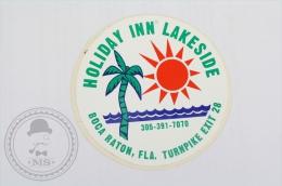 Holiday Inn Lakeside - Boca Raton - Original Hotel Luggage Label - Sticker