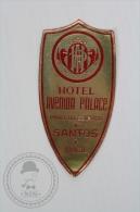 Hotel Avenida Palace, Santos - Brasil - Original Hotel Luggage Label - Sticker