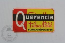 Palace Hotel Querencia - Brasil - Original Hotel Luggage Label - Sticker