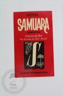 Hotel Samuara, Campestre - Brasil - Original Hotel Luggage Label - Sticker