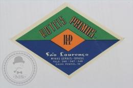 Hotel Primus, Sao Louren�o - Brasil - Original Hotel Luggage Label - Sticker