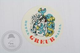 Hotel Greub Basel - Switzerland - Original Hotel Luggage Label - Sticker