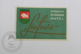 Hotel Lietuva, Kaunas - Lituania - Original Hotel Luggage Label - Sticker