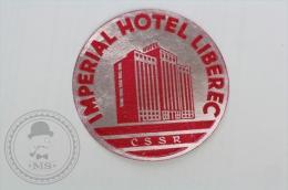 Imperial Hotel Liberec, CSSR - Original Hotel Luggage Label - Sticker
