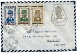 INDOCHINE / VIETNAM LETTRE DEPART HANOICHANH-THAU-CUC 18-12-46 BAC-BO POUR HANOI - Indochine (1889-1945)