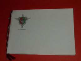 CPM Double, Carte Postale Illustrée, Militaria, Miltaire, Blason écusson Le Capitaine, FFA 702 CME Salamandre Auxilium - Militaria
