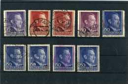 - ALLEMAGNE EMPIRE 1933/45 . TIMBRES DE 1941/42 . OBLITERES  . - Besetzungen 1938-45