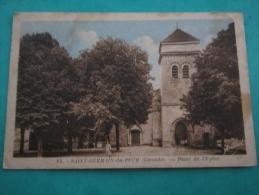 Cpa Saint Germain Du Puch Gironde Place De L Eglise  33 - Frankrijk