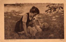 CPA  , Publicité, Phoscao Et Le Phoscao-Bébé  LES CERISES  CPA ALSINA - Pubblicitari