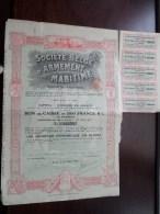 Soc. Belge D´Armement MARITIME S.a. Anvers 16 Juillet 1919 - N° 32150, 32151 & 32156 ( Voir Photo Pour Detail )! - Navigation