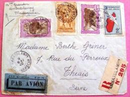 Lettre Recommandée Par Avion De Ambatolampy Vers La France 1940, Tampon D´arrivée Au Dos PHOTO RECTO VERSO - Madagascar (1889-1960)