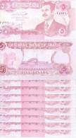 lot de 10 billets  5 dinars NEUFS