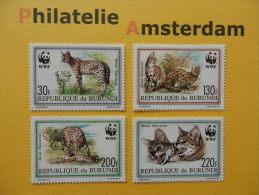 Burundi 1992, WWF FAUNA SERVAL: Mi 1758-61, ** - W.W.F.