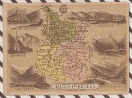 4AG1581 CHROMO HACHETTE Géographique + Vues Département HAUTES PYRENEES TARBES ARGELES - Géographie