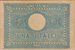 Romania - Banknote 100 Lei  1945 ,circulated - 2/scans - Rumania