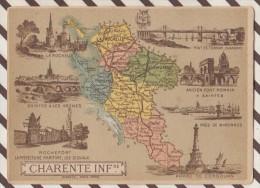 4AG1583 CHROMO HACHETTE Géographique + Vues Département  CHARENTE INFERIEURE SAINTES ROCHEFORT - Géographie