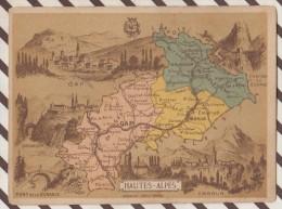 4AG1584 CHROMO HACHETTE Géographique + Vues Département  HAUTES ALPES GAP BRIANCON EMBRUN DURANCE - Géographie