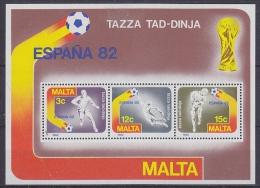 Malta 1982 World Cup Football Espana M/s ** Mnh (17689) - 1982 – Spain