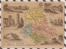 4AG1586 CHROMO HACHETTE Géographique + Vues Département  HAUTE VIENNE LIMOGES BELLAC ST JUNIEN - Géographie