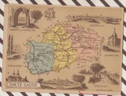 4AG1588 CHROMO HACHETTE Géographique + Vues Département HAUTE SAONE LUXEUIL VESOUL FAVERNEY - Géographie
