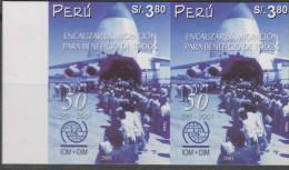O) 2001 PERU, CHANNEL MIGRATION, PLANE, IOM-OIM, IMPERFORATE MNH - Peru