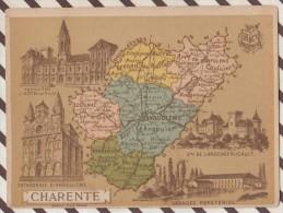 4AG1589 CHROMO HACHETTE Géographique + Vues Département CHARENTE ANGOULEME LAROCHEFOUCAULT - Géographie