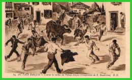 DEUX C.P.A Au Pays Basque.Pelote Basque/Courses De Vaches D'aprés R.Baudichon(rectos Versos) - Unclassified