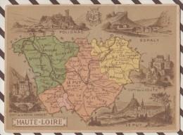 4AG1590 CHROMO HACHETTE Géographique + Vues Département HAUTE LOIRE LE PUY ESPALY POLIGNAC - Géographie