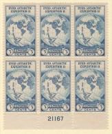 USA SC #733 MLH PB6  1933 Byrd Antarctic Expedition #21167 - Plate Blocks & Sheetlets